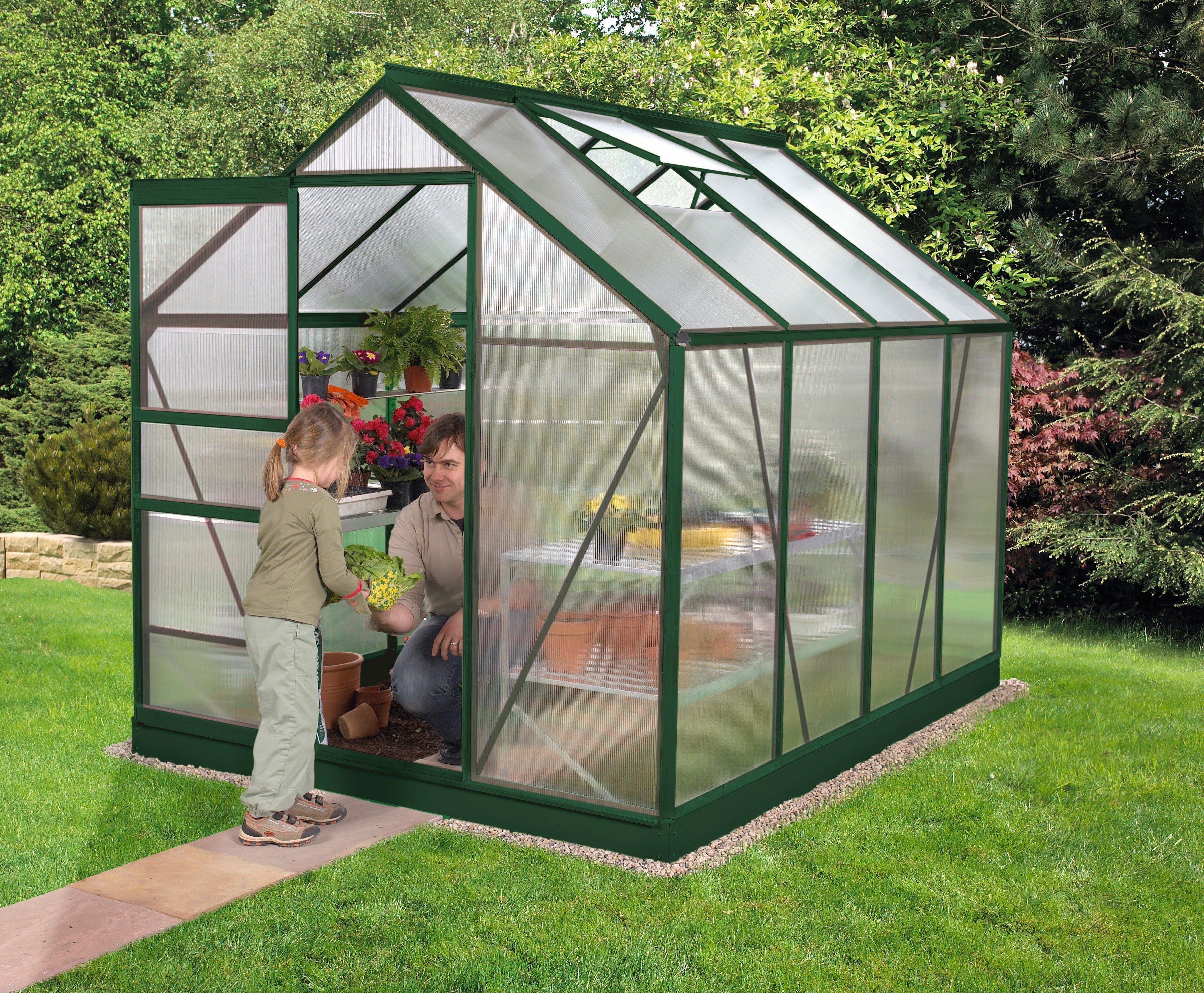 VITAVIA Gewächshaus »Venus 5000«, B/T/H: 192/254/197 cm, grün, 4 mm | Garten > Gewächshäuser | Vitavia