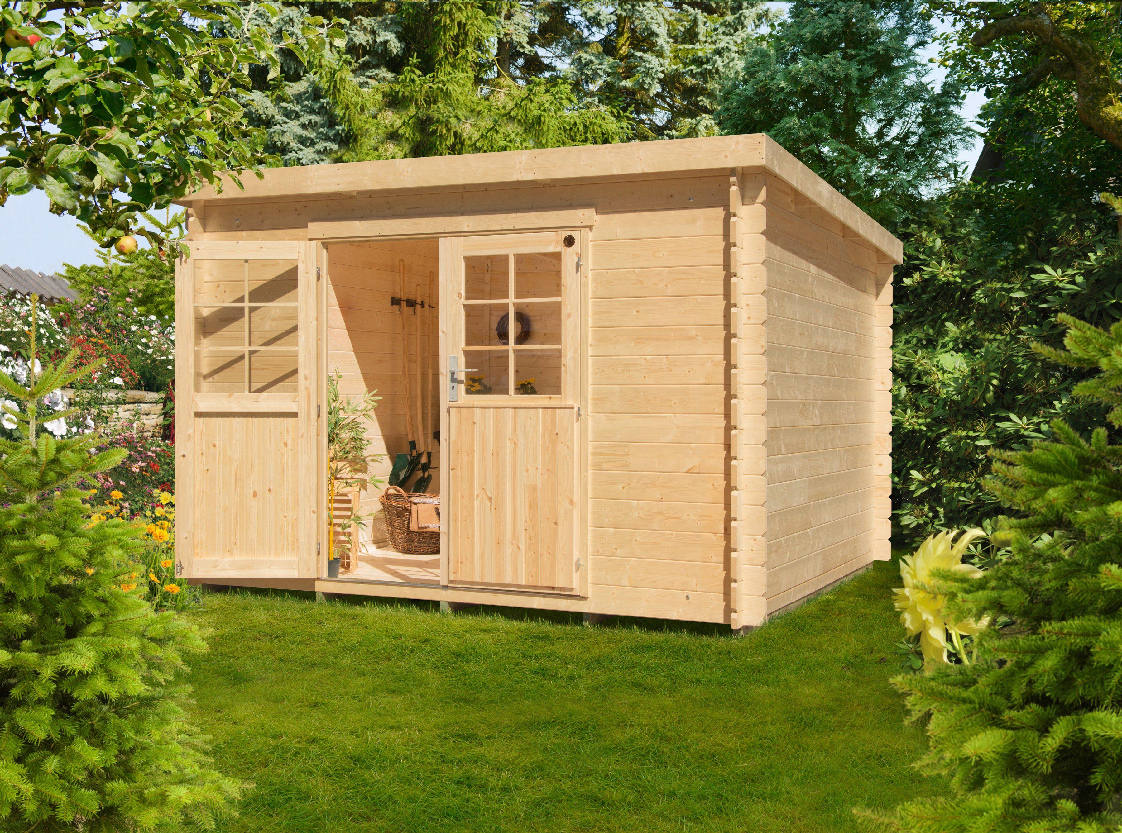 LUOMAN Gartenhaus »Lillevilla 474«, BxT: 327x326 cm, inkl. Fußboden