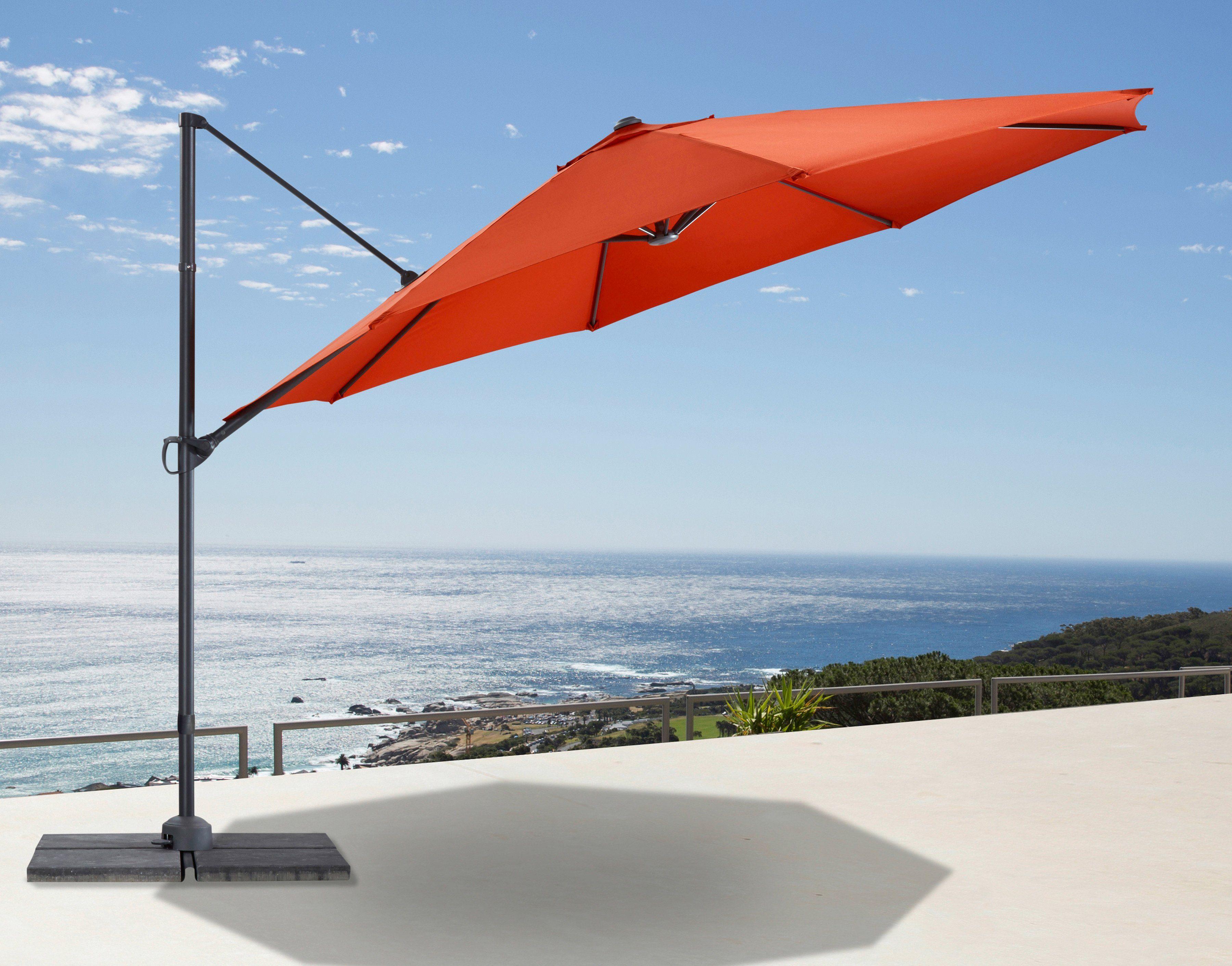 GARTENGUT Ampelschirm »Marbella«, Ø 350 cm