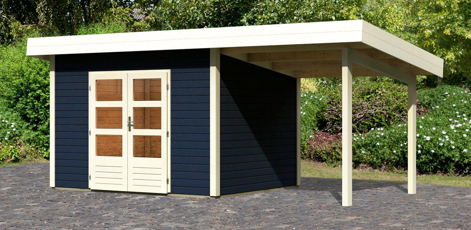 KONIFERA Set: Gartenhaus »Rosenheim 2«, BxT: 564x301 cm, inkl. Anbau | Garten > Gartenhäuser | KONIFERA
