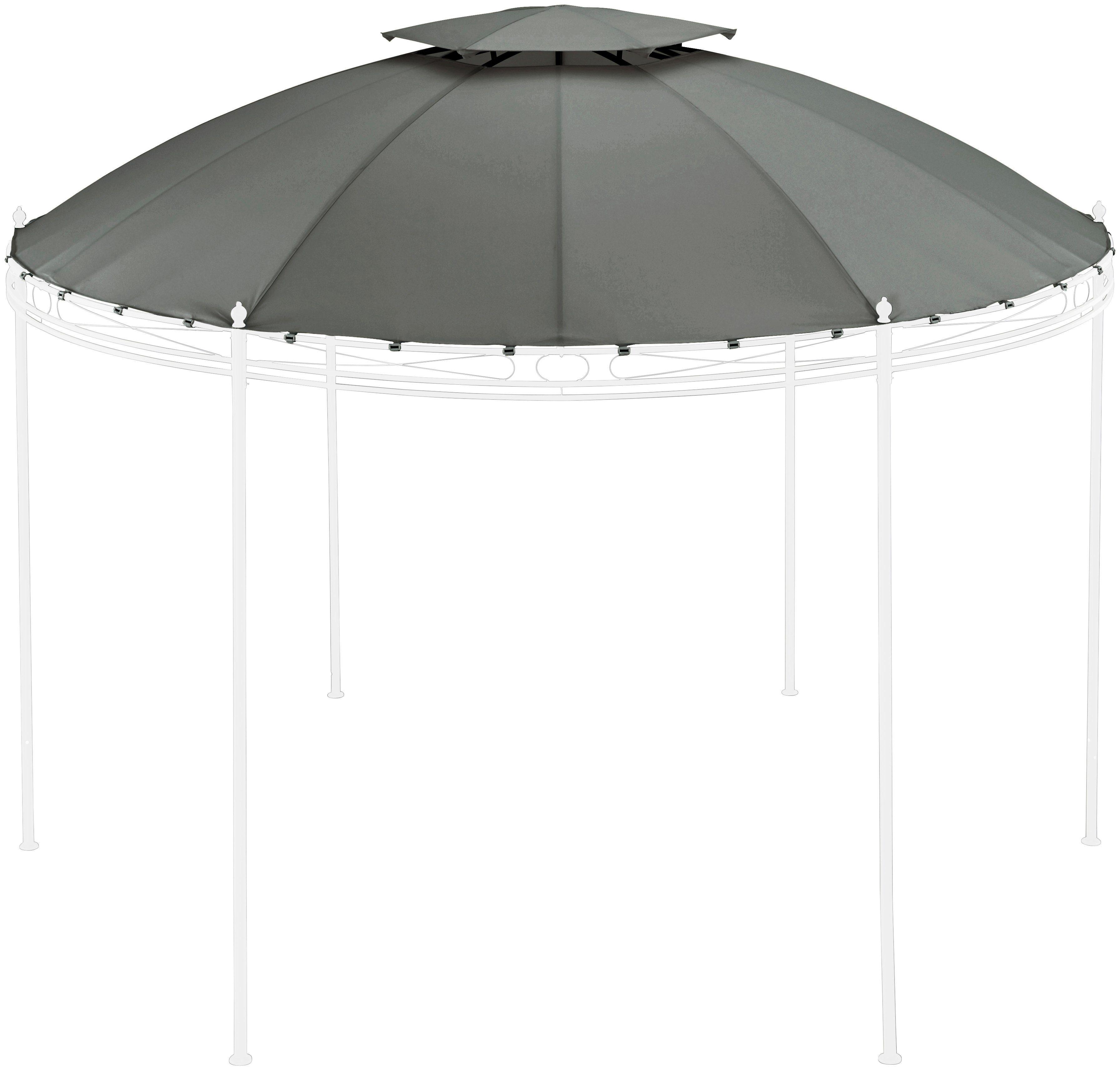 Ersatzdach für Pavillon »Tino 1«, 350 x 350 cm, grau