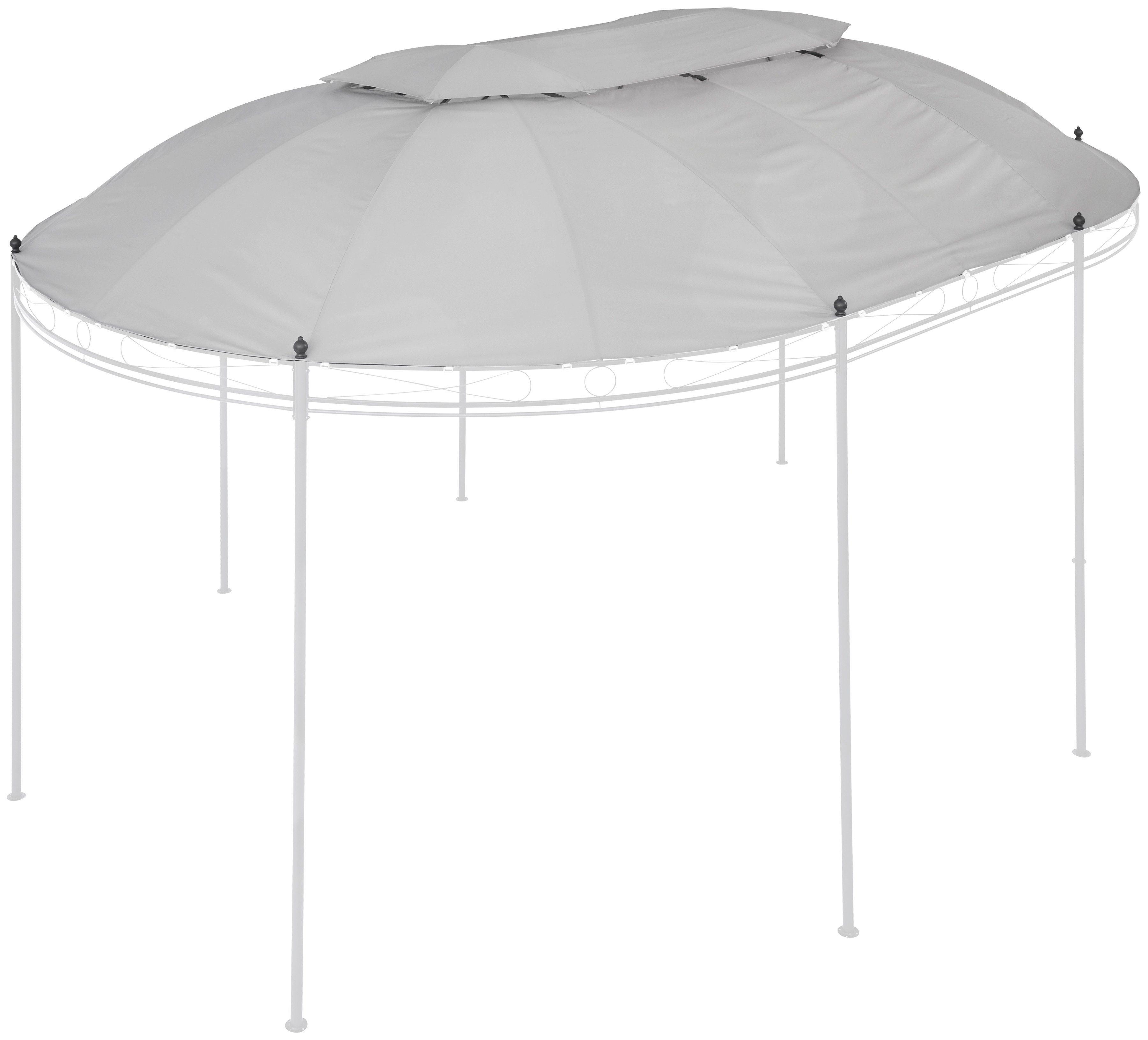 KONIFERA Ersatzdach für Pavillon »Oval«, BxL: 350x500 cm, grau