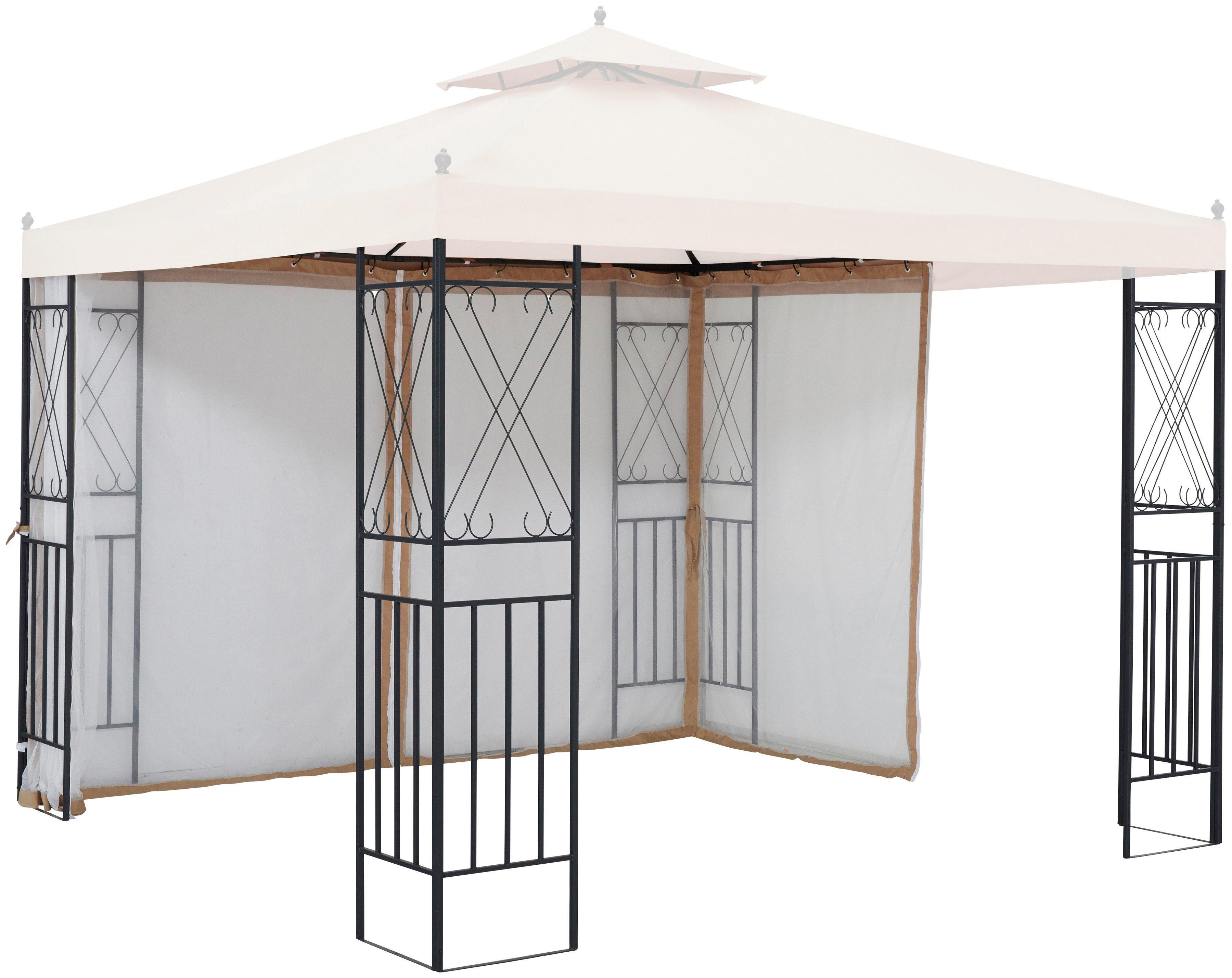Seitenteile für Pavillon »Royal«, für 3x3 m, 2 Stk., mit Moskitonetz