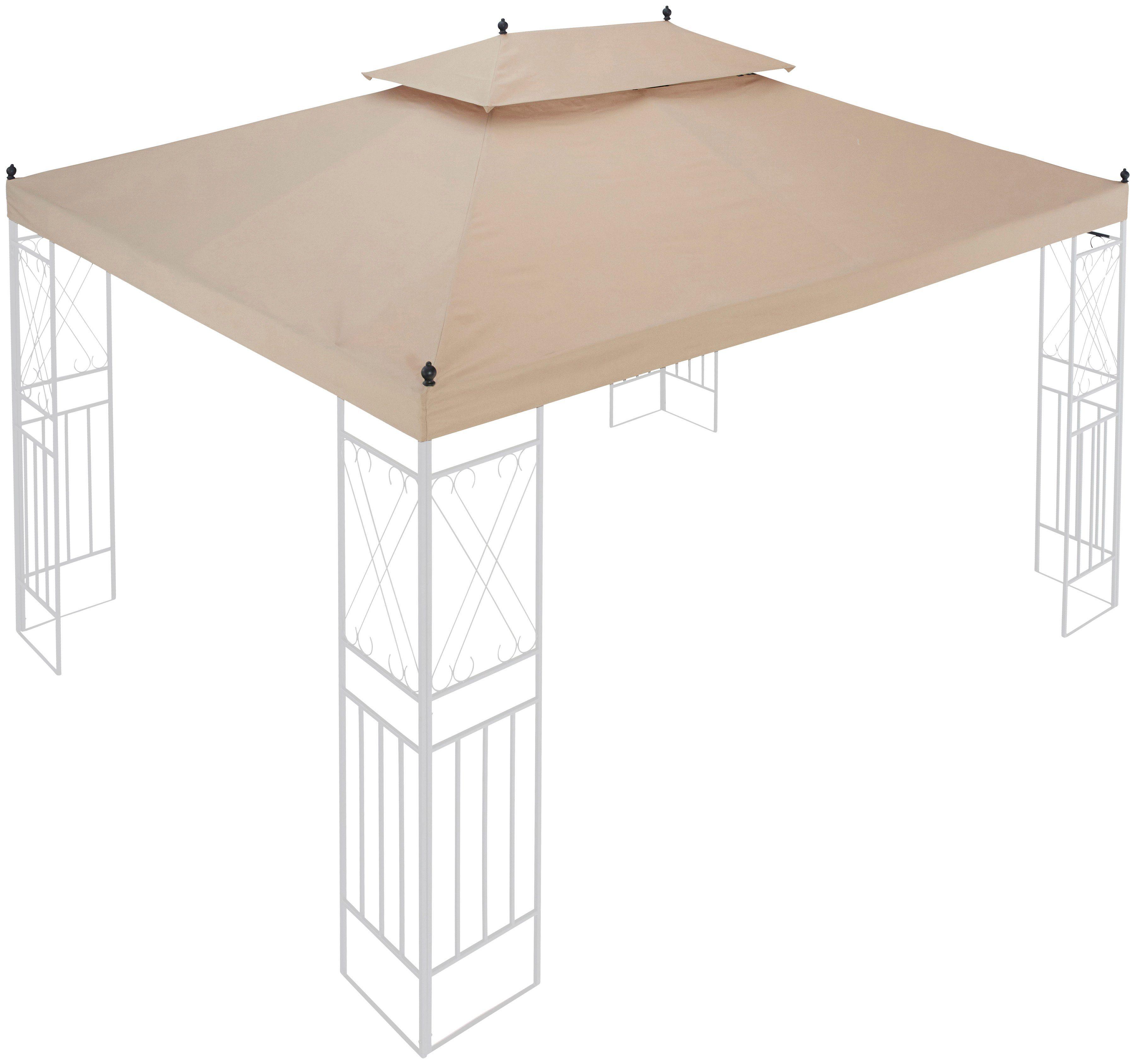 Ersatzdach für Pavillon »Royal«, BxL: 300x400 cm, sandfarben