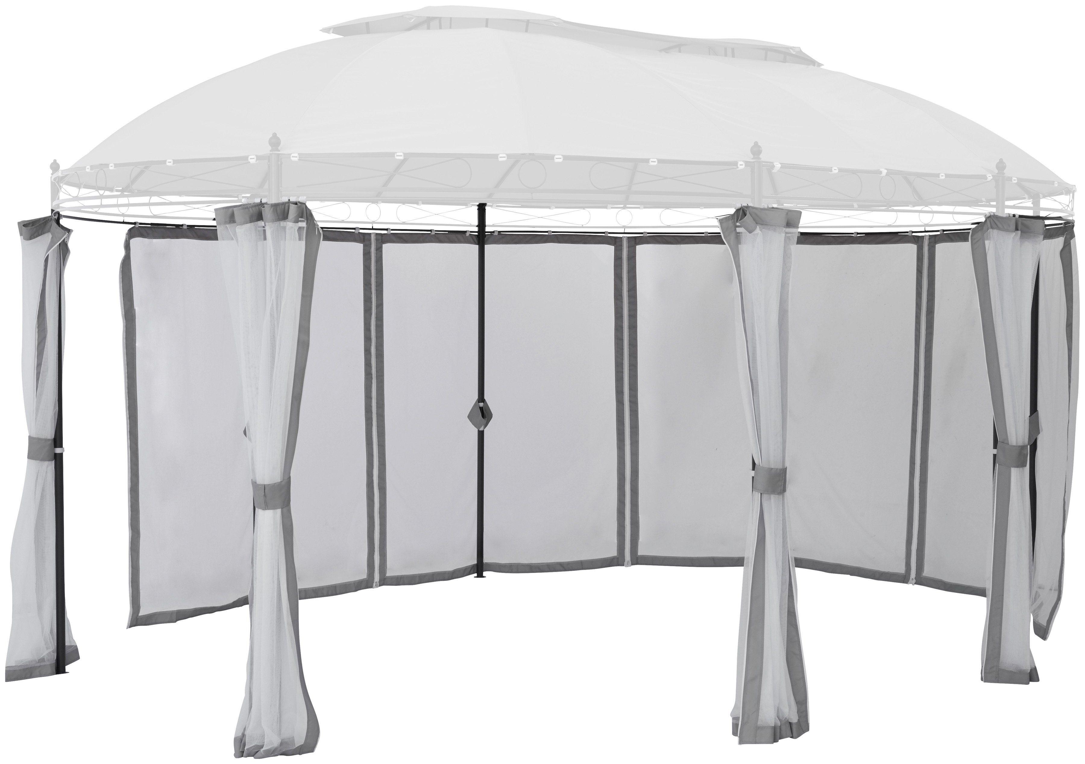 KONIFERA Seitenteile für Pavillon »Oval«, grau, 8 Stk., mit Moskitonetz