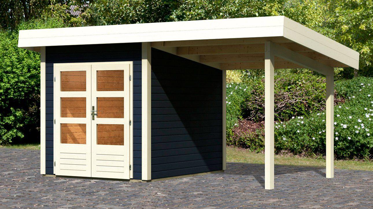 KONIFERA Set: Gartenhaus »Rosenheim 0«, BxT: 460x301 cm, inkl. Anbau