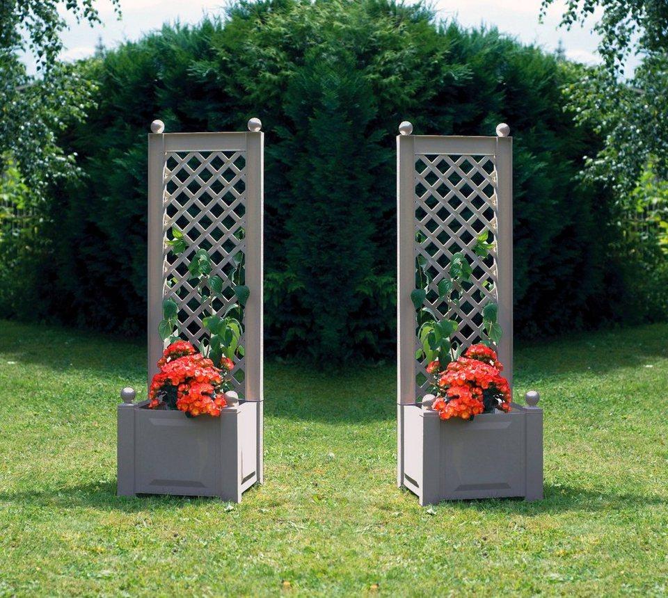 khw spalier mit pflanzkasten 2 stk bxtxh je 43x43x140 cm online kaufen otto. Black Bedroom Furniture Sets. Home Design Ideas