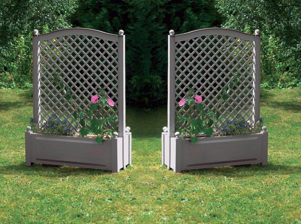 khw spalier mit pflanzkasten 2 stk bxtxh je 100x43x140 cm online kaufen otto. Black Bedroom Furniture Sets. Home Design Ideas