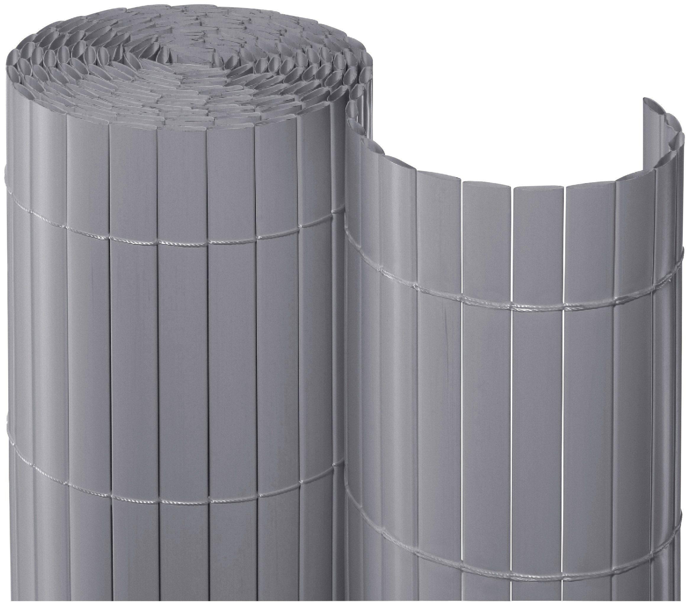 Balkonsichtschutz , BxH: 300x90 cm, silberfarben