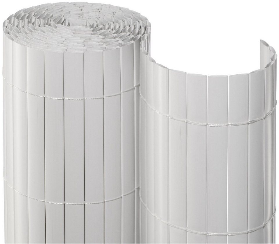 Balkonsichtschutz BxH 300x90 cm weiß kaufen