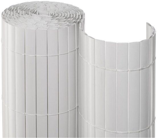 Balkonsichtschutz , BxH: 300x90 cm, weiß