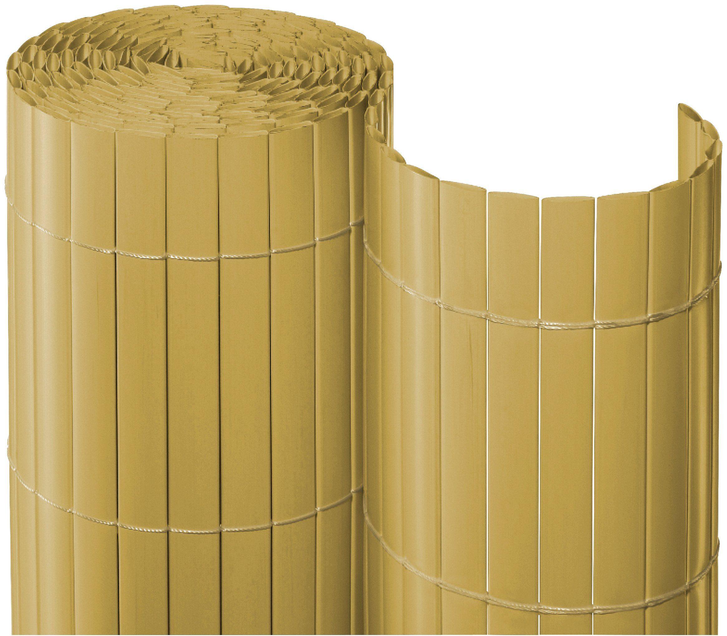 Balkonsichtschutz , BxH: 300x90 cm, bambusfarben