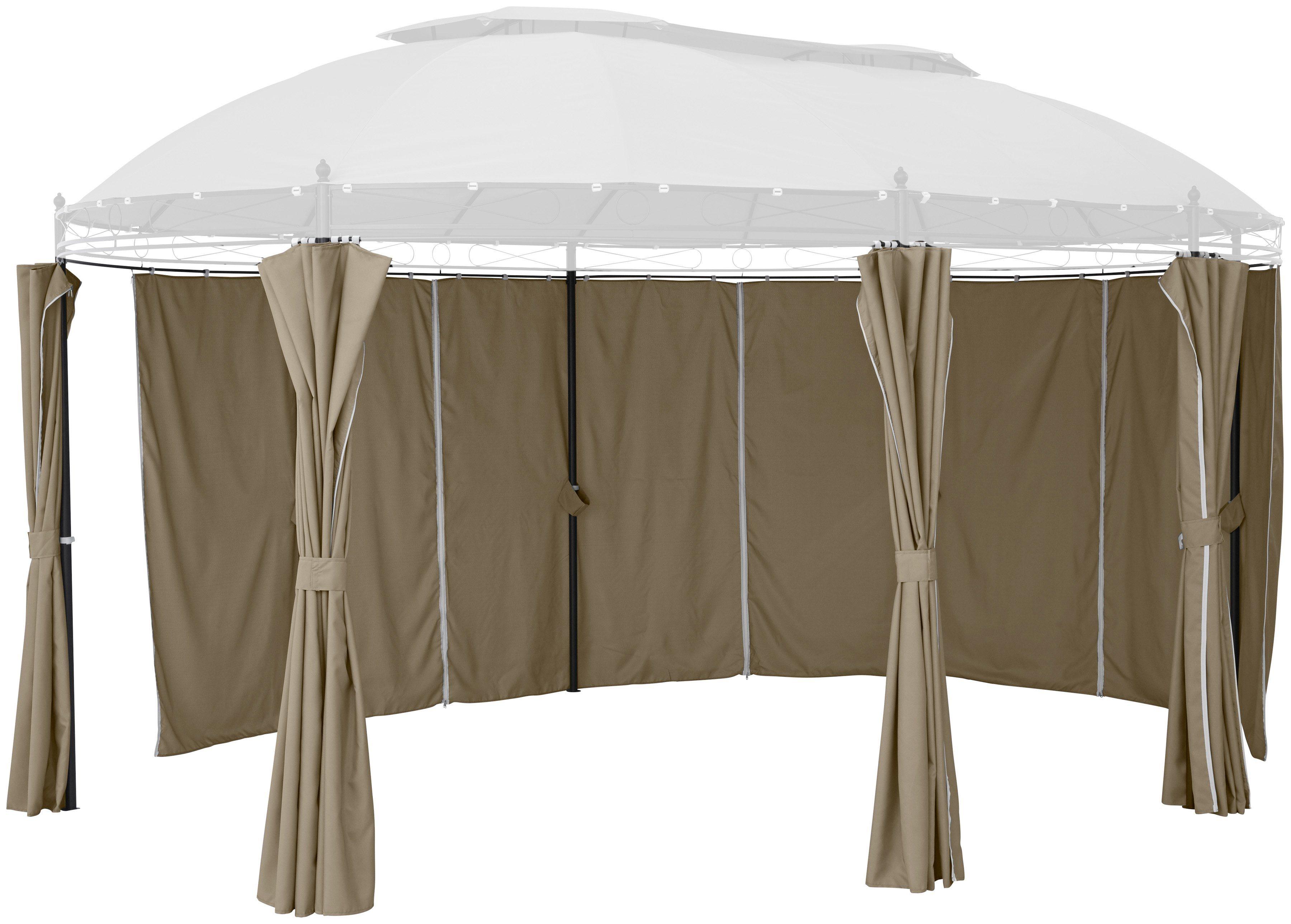 Seitenteile für Pavillon »Oval«, beige, 6 Stk   Garten > Pavillons   Polyester