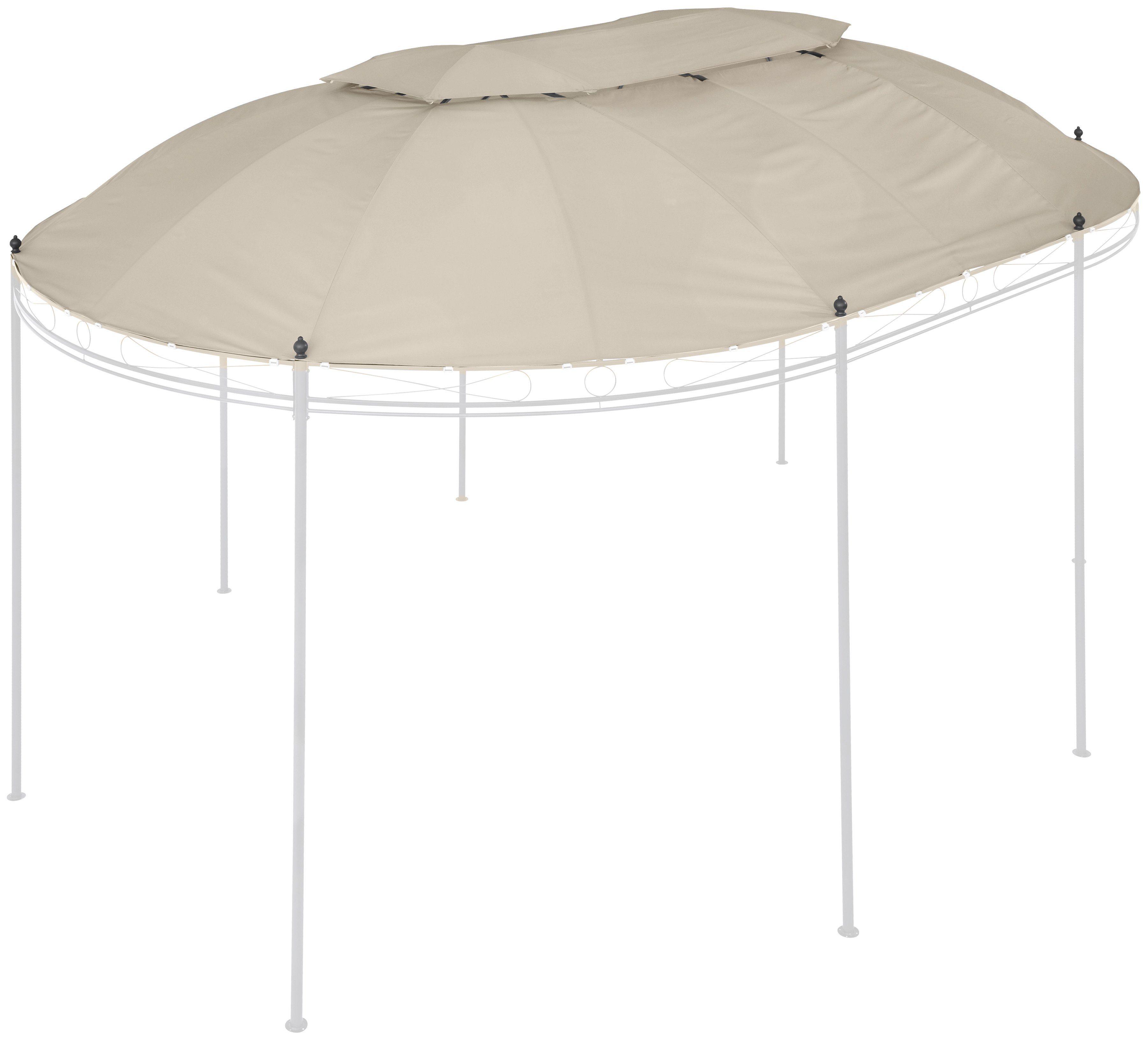 Ersatzdach für Pavillon »Oval«, BxL: 350x500 cm, beige