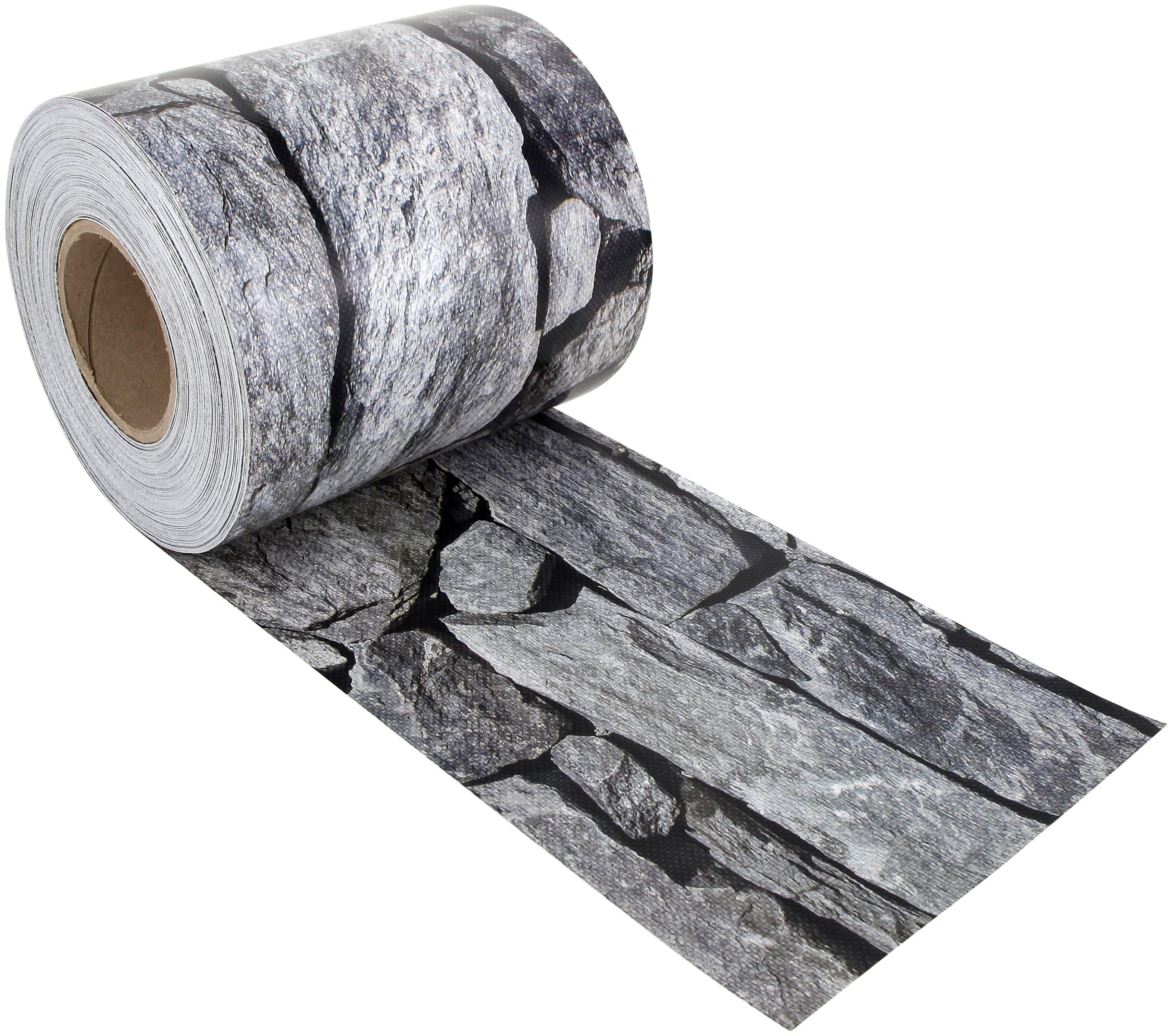 NOOR Sichtschutzstreifen »PVC Zaunblende«, granitgrau, BxL: 19 cm x 35 m