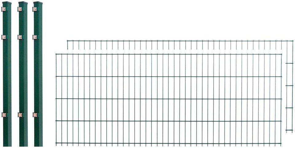 Doppelstabmattenzaun 2 stk lxh 4x0 8 m gr n otto - Gartenzaunelemente metall ...
