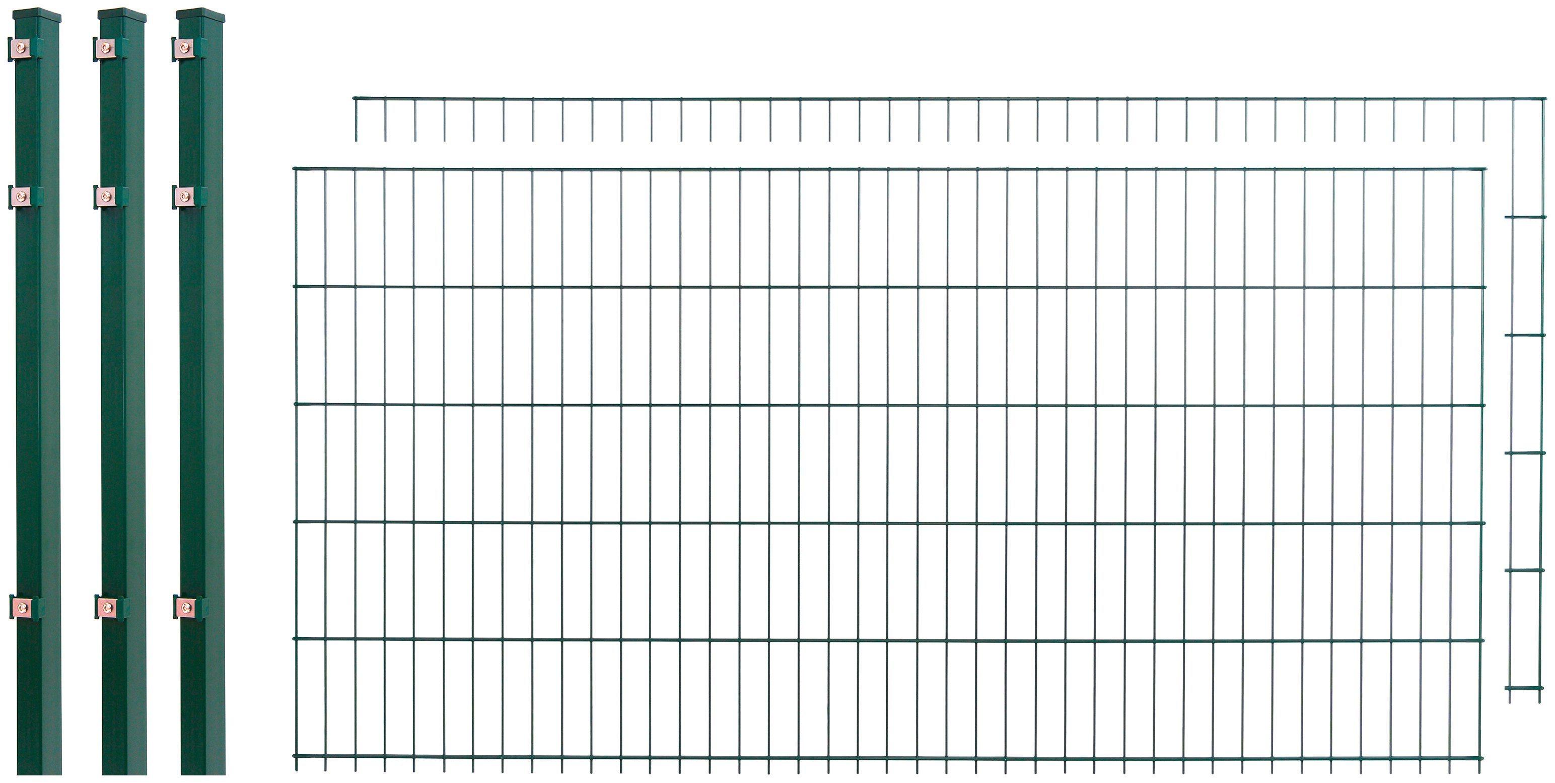 Doppelstabmattenzaun , 2 Stk., LxH: 4x1 m, grün | Garten > Zäune und Sichtschutz | Arvotec