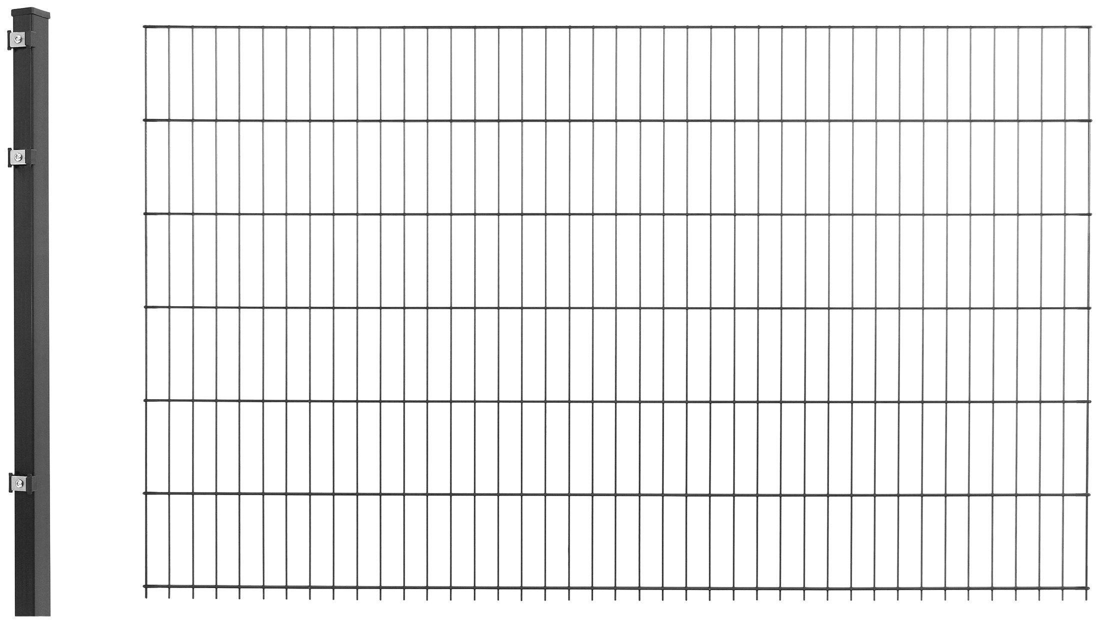 Doppelstabmattenzaun »Anbau-Set«, LxH: 2x1,2 m, anthrazit