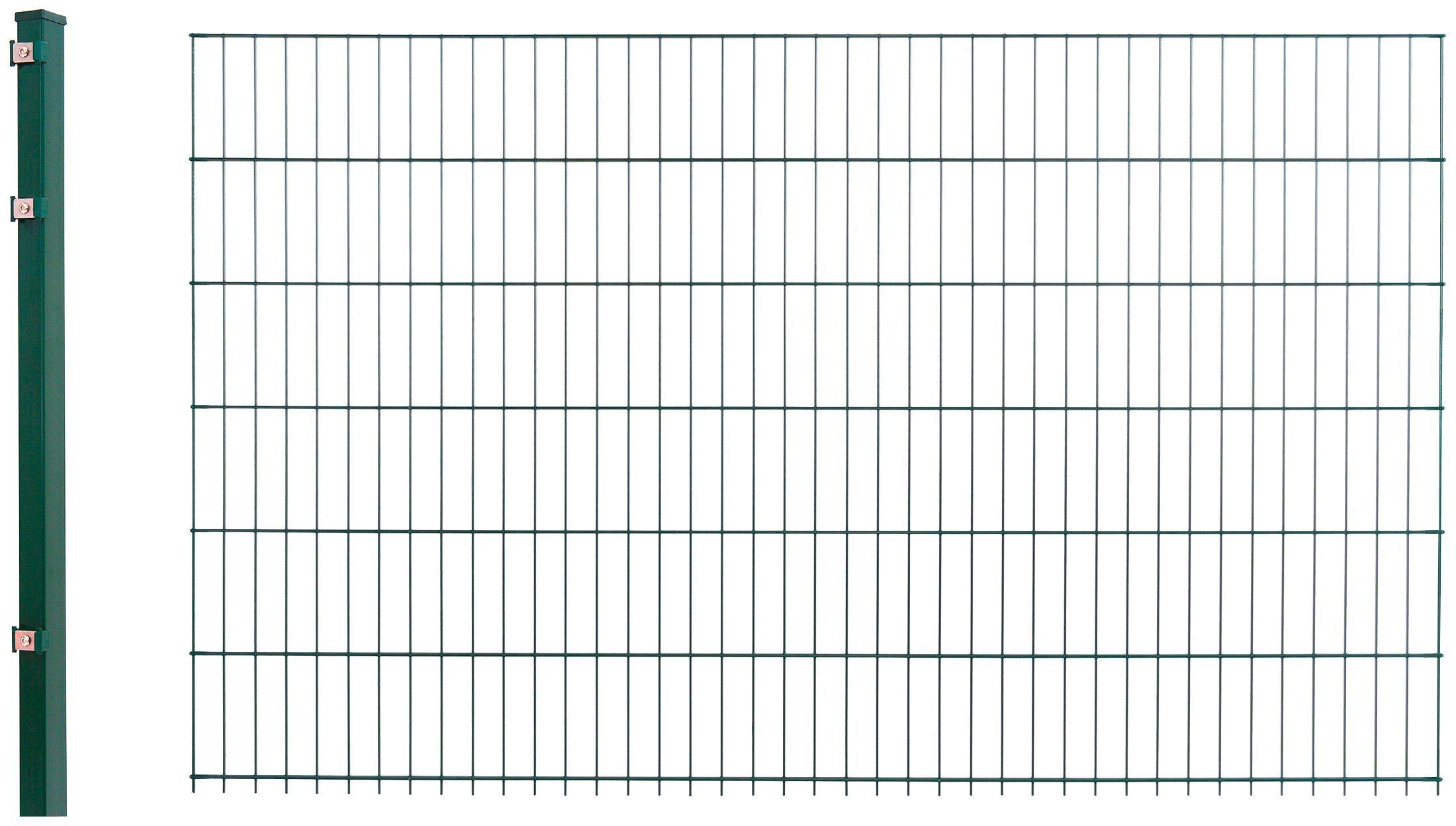 Doppelstabmattenzaun »Anbau-Set«, LxH: 2x1,2 m, grün | Garten > Zäune und Sichtschutz | Arvotec
