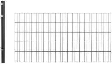 Doppelstabmattenzaun »Anbau-Set«, LxH: 2x1 m, grün