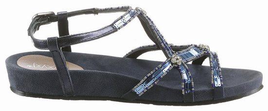 XYXYX Sandale, mit funkelnden Schmucksteinchen