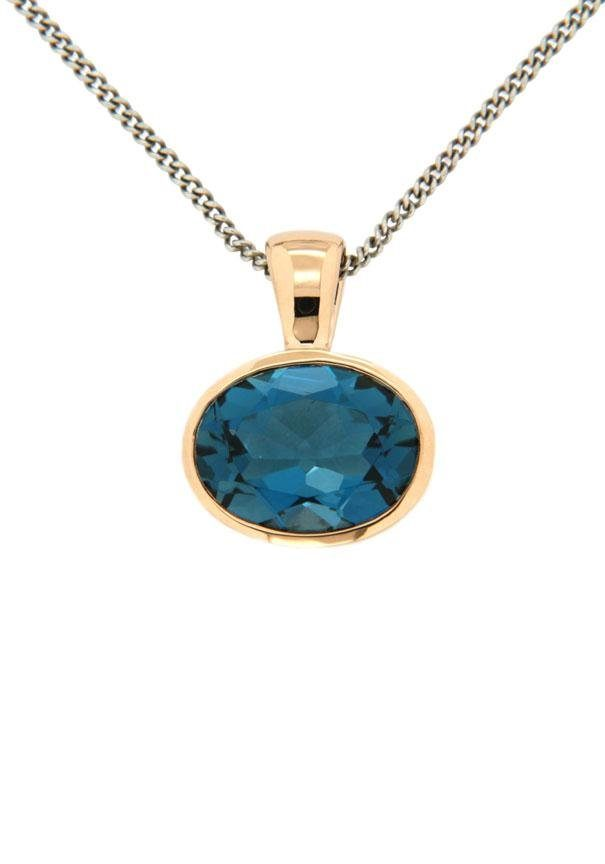 Vivance jewels Kettenanhänger mit Blautopas London Blue