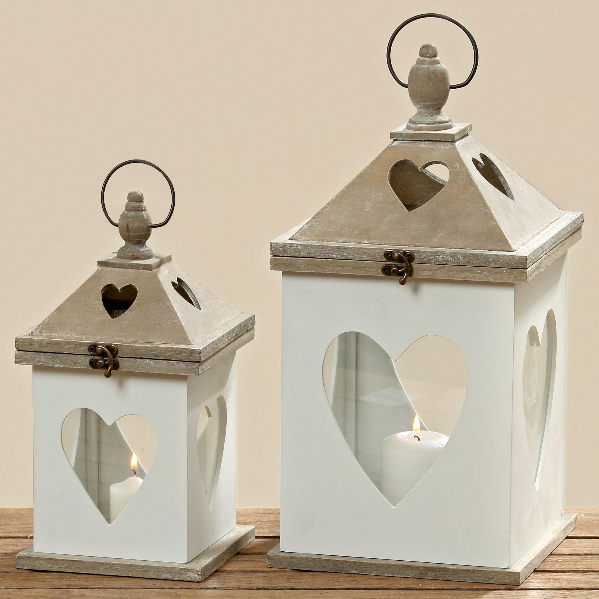 Home affaire Laterne »Tulsa« (2-tlg.) | Dekoration > Kerzen und Kerzenständer > Laternen | Home affaire