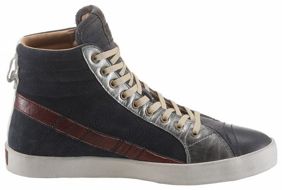 D Diesel-string Plus Sneaker, With Practical Outside Zipper