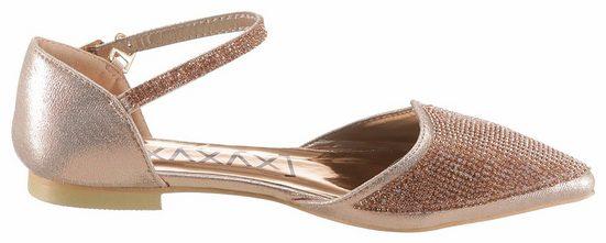 XYXYX Riemchenballerina, in modischer, spitzer Form