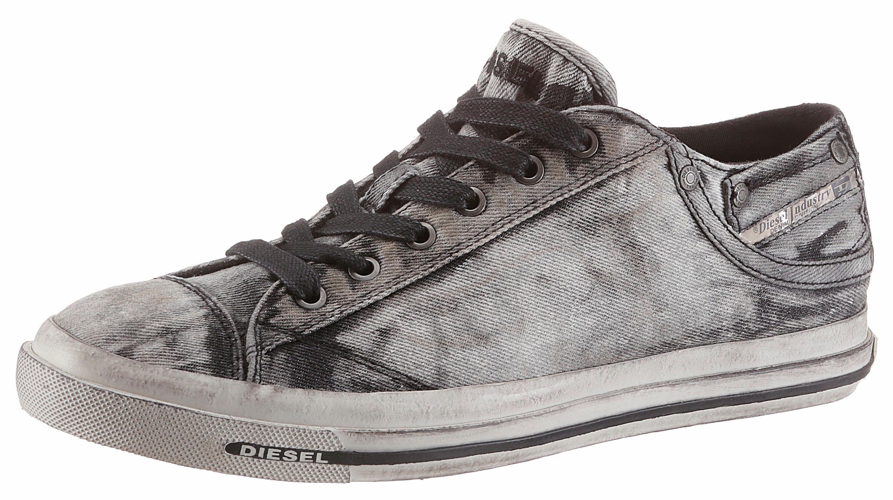 Diesel Exposure Low I Sneaker, im coolen Jeans-Look online kaufen  schwarz-grau-used