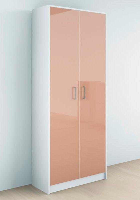 Borchardt Möbel Garderobenschrank »Finn« mit 2 Türen und Hochglanz Fronten | Flur & Diele > Garderoben > Garderobenschränke | Hochglanz - Weiß - Matt - Cappuccino | Hochglanz - Melamin | borchardt Möbel