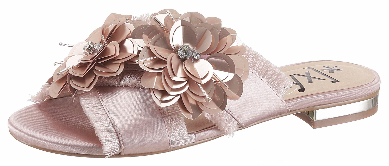 XYXYX Pantolette, mit schöner Blütenverzierung  rosé