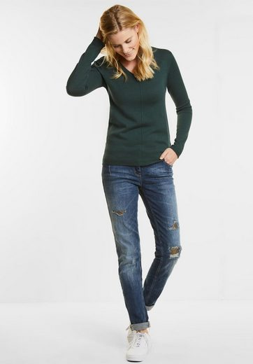 CECIL Dunkler V-Neck Pullover