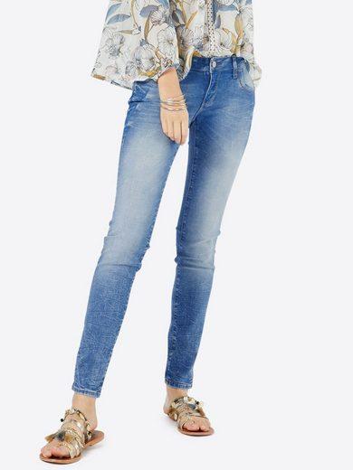 Mavi Jeans Slim-fit-jeans Lindy, Ziernaht