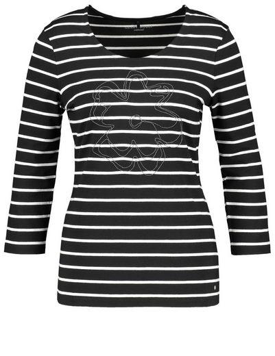 Gerry Weber T-Shirt 3/4 Arm 3/4 Arm Shirt mit Ringel und Blüte