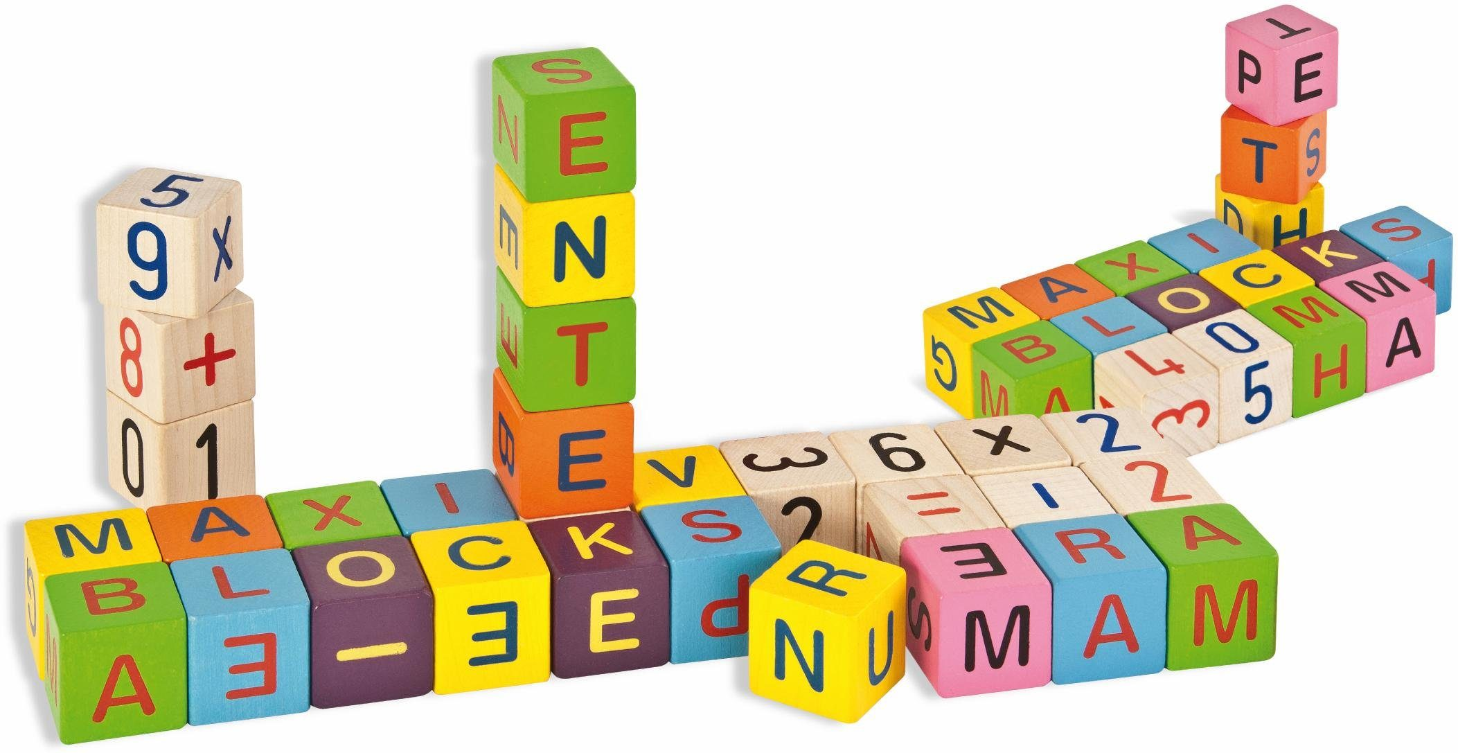 Eichhorn ABC Lernbausteine, »Holzbausteine mit Buchstaben«