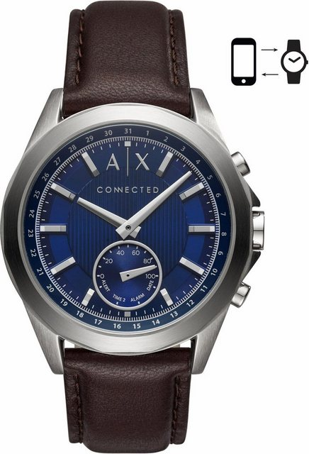 Armani Exchange Connected AXT1010 Smartwatch (Android Wear) | Uhren > Smartwatches | Braun | Armani Exchange Connected