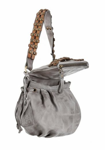 As98 Shoulder Bag, Rivets With Fashionable Leather