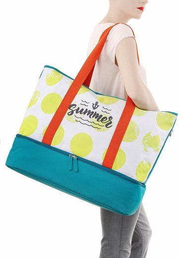 fabrizio® Strandtasche, mit integrierten Reißverschluss-Bodenkühlfach