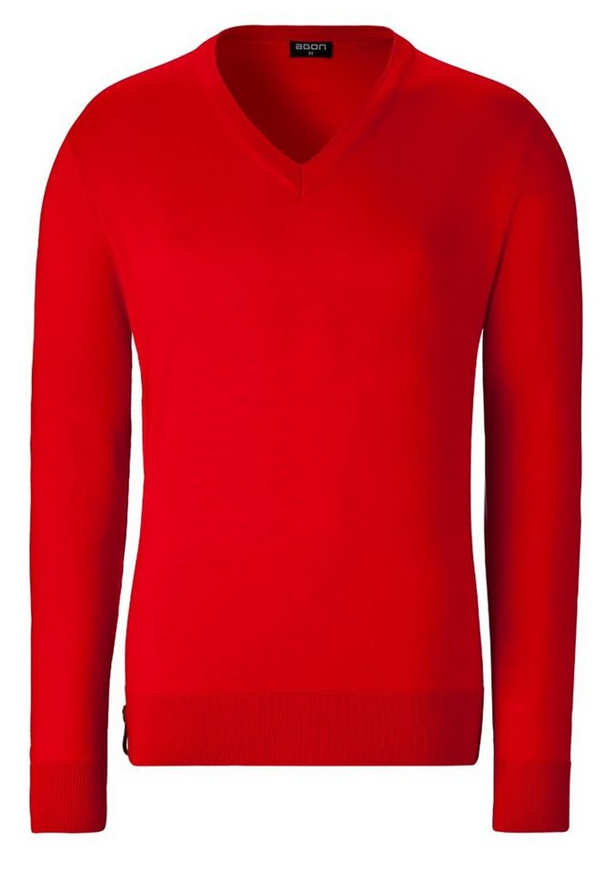 agon® V-Pullover mit Total-Easy-Care-Behandlung | Bekleidung > Pullover > V-Pullover | Rot | agon®
