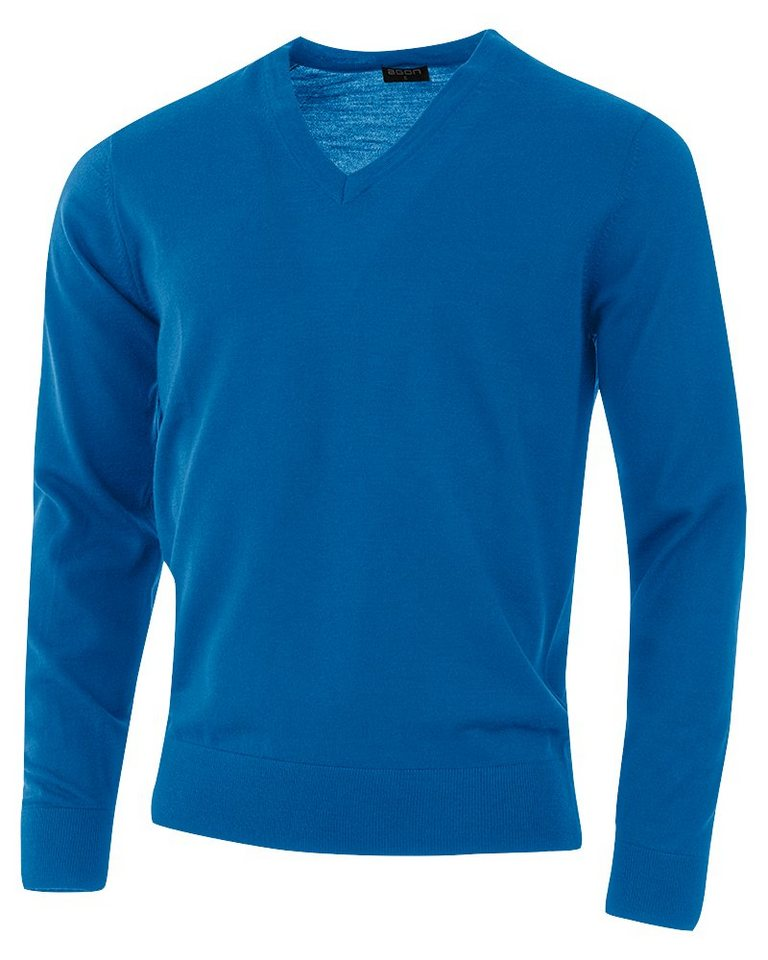 agon® V-Pullover mit Total-Easy-Care-Behandlung   Bekleidung > Pullover > V-Pullover   Blau   agon®