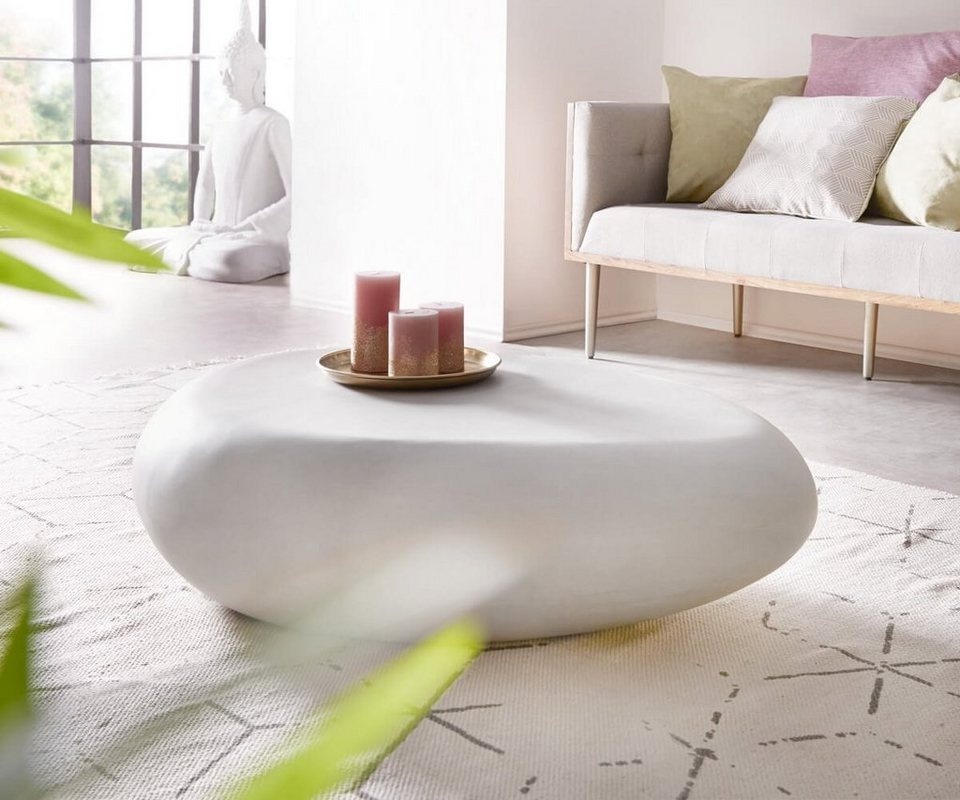 delife wohnzimmertisch rock grau 118x80 cm beton optik online kaufen otto. Black Bedroom Furniture Sets. Home Design Ideas