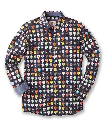 Joe Browns Hemd Joe Browns Men's Guitar Plectrum Print Shirt