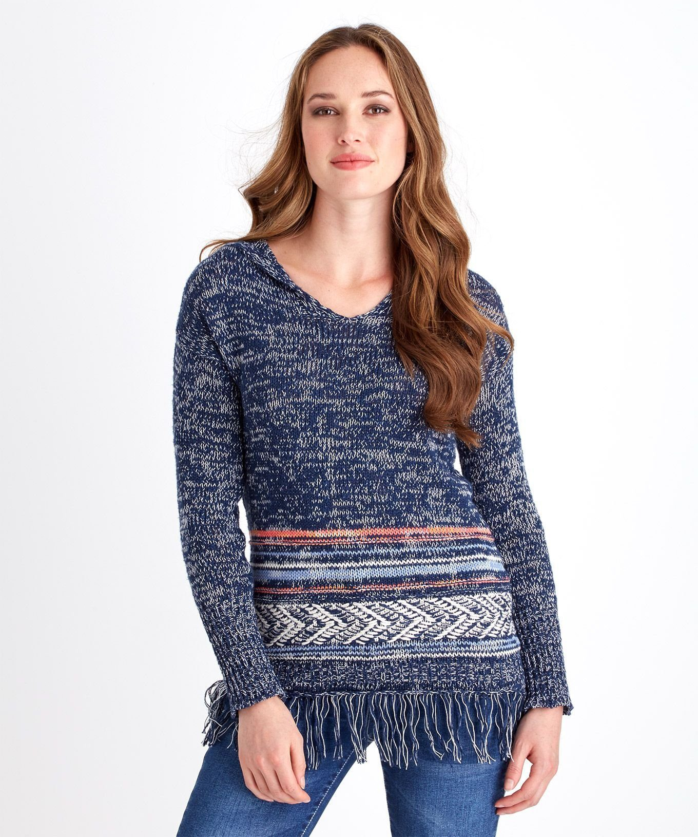 Joe Browns Kurzarmpullover »Boho-Strickpullover mit Fransensaum von Joe Browns für Damen«