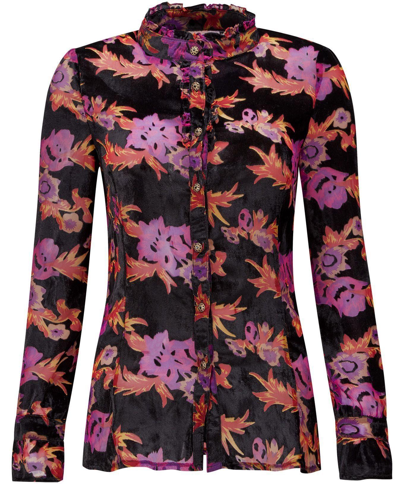 Joe Browns Druckbluse »Langarm-Chiffon-Bluse mit Blumenmuster von Joe Browns für Damen«