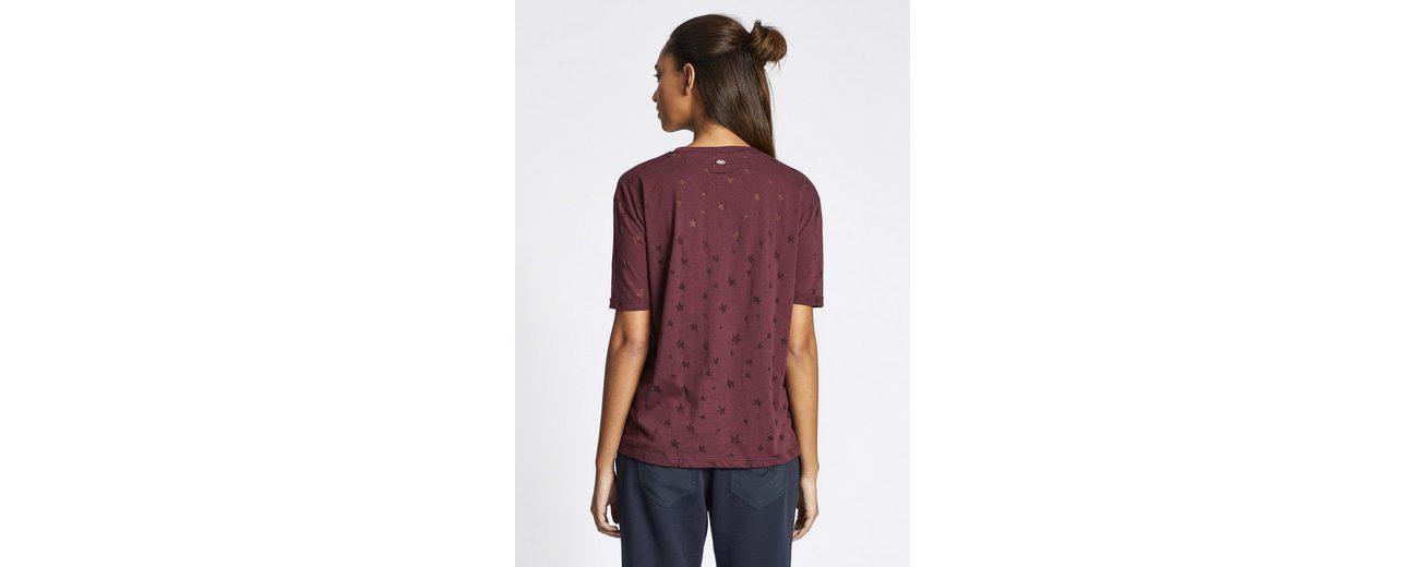 khujo T-Shirt DREW, mit Muster durch Transparenz