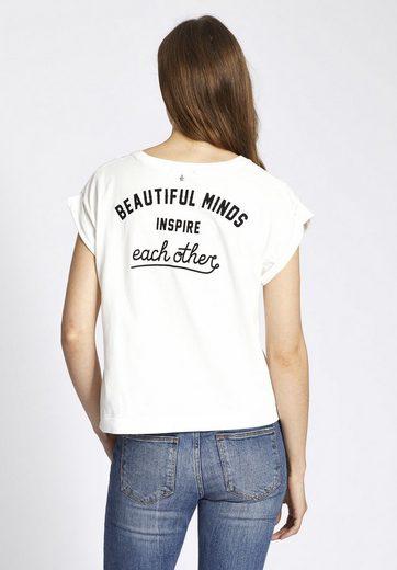 khujo T-Shirt ALKANA, mit Typo-Print auf der Front
