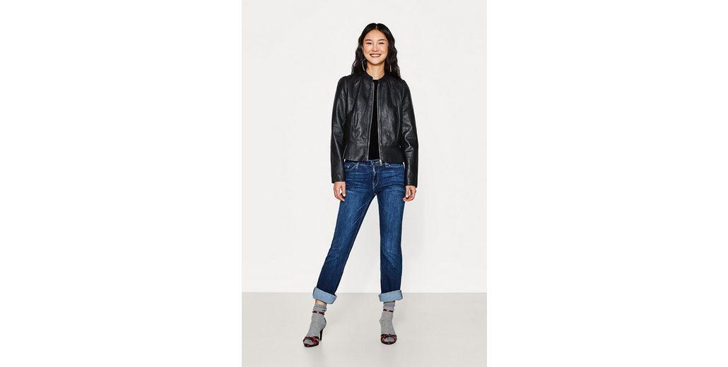 Unisex Echte Online ESPRIT COLLECTION Softe Lederjacke mit femininem Schößchen Cool Zu Verkaufen 3DOiHc