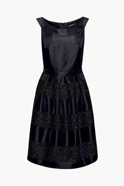 ESPRIT COLLECTION Festliches Kleid mit Glitzer-Blockstreifen