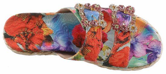 Pena Pantolette Farbenfrohen En Alma Im Look FwEg5q5P